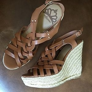 Fergalicious vegan leather espadrille sandals